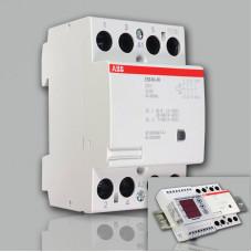 Модульный контактор ABB ESB-40-40 (40А AC1, 4НО) 220В АС/DC
